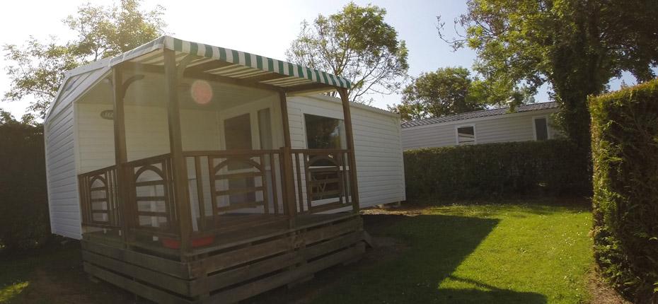 Location mobil-home dans un camping du Calvados